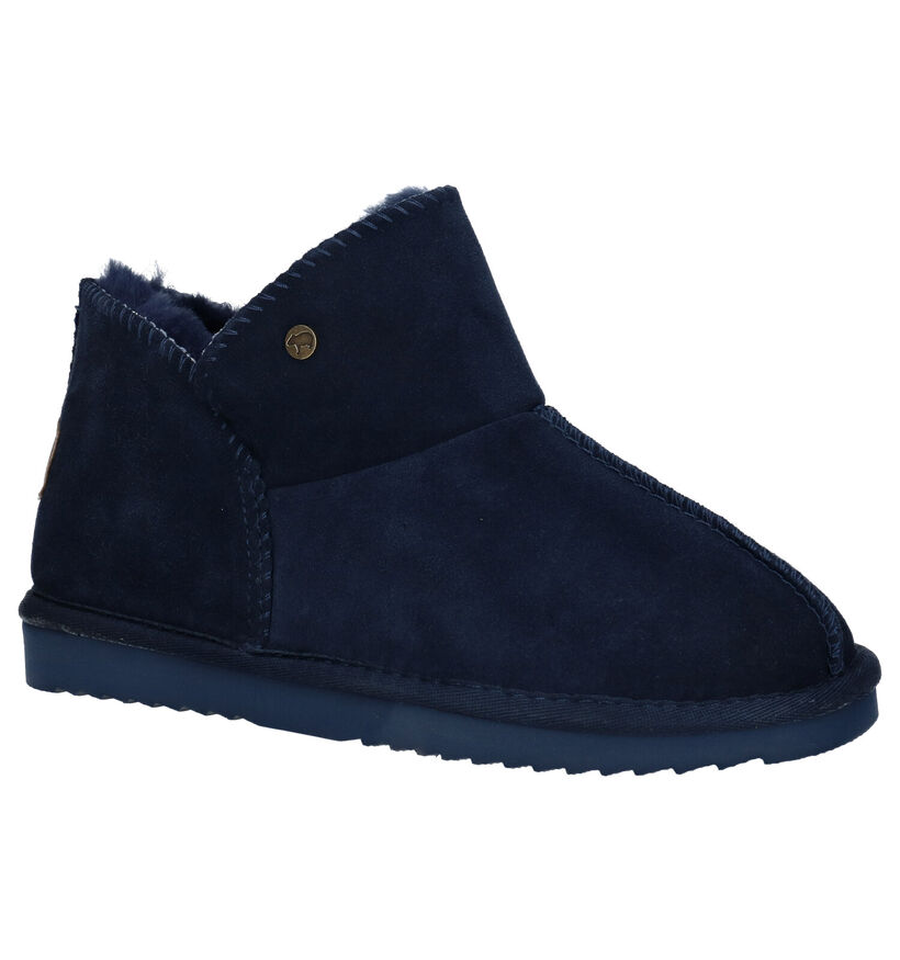 Warmbat Willow Blauwe Pantoffels in daim (284143)
