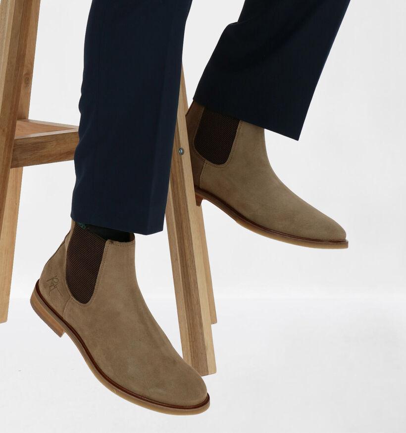 Bullboxer Beige Chelsea Boots in nubuck (281287)