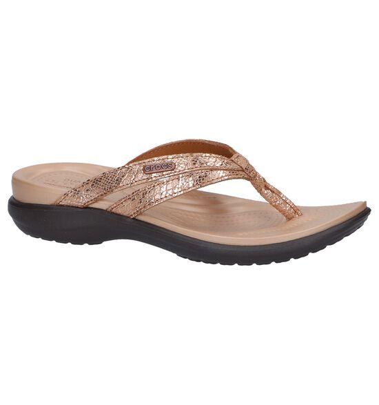 Bronzen Slippers Crocs Capri