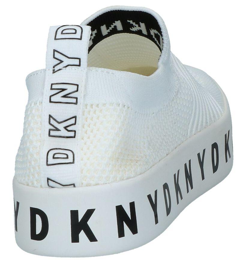 Witte Slip-on Sneakers DKNY Brea in stof (238291)