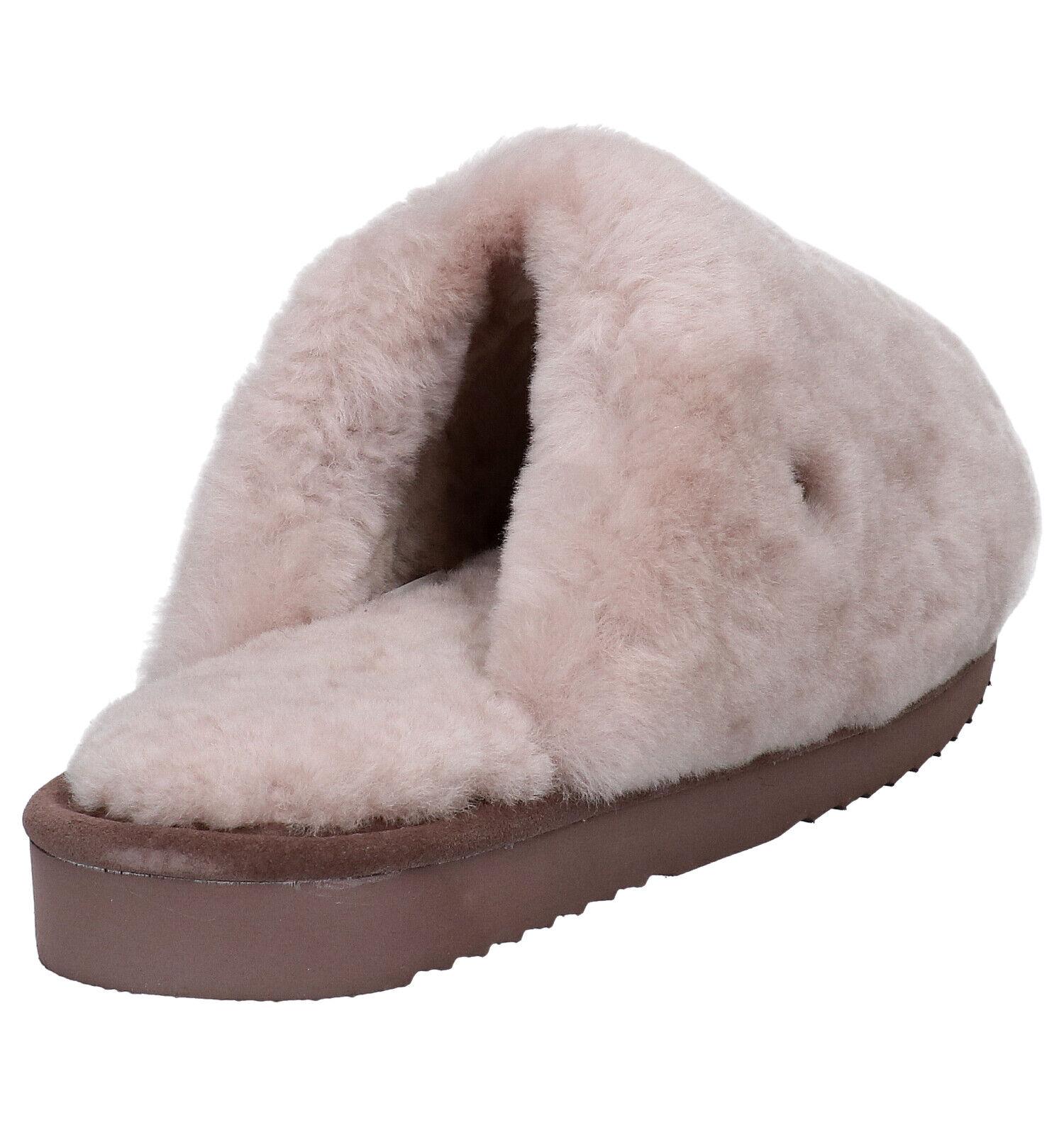 Warmbat Mungo Roze Pantoffels