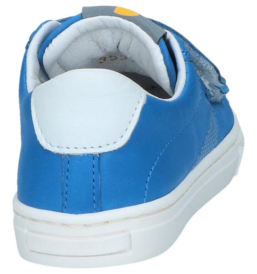 Blauwe Lage Schoenen met Klittenband FR by Romagnoli in leer (239944)