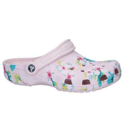 Lichtroze Slippers Crocs Classic, Roze, pdp