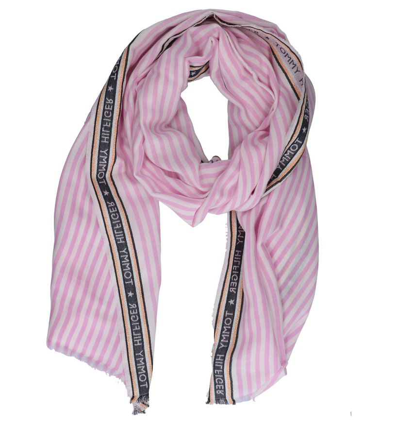 Lichtroze Sjaal Tommy Hilfiger Selvedge Scarf (241877)