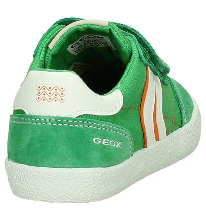 Geox Klittenbandschoen Donker Blauw, Groen, pdp
