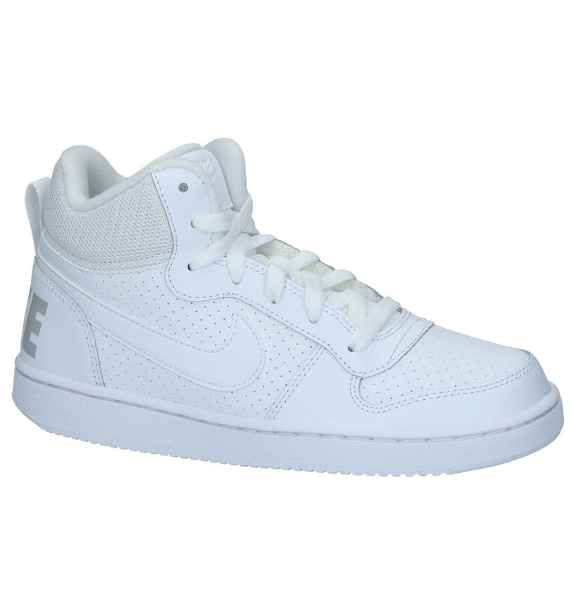 Nike Court Borough Hoge Sneakers Wit in kunstleer (234332)