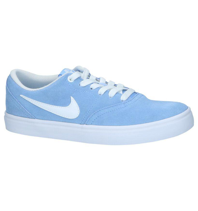 Blauwe Sneakers Nike SB Check Solar in nubuck (238345)