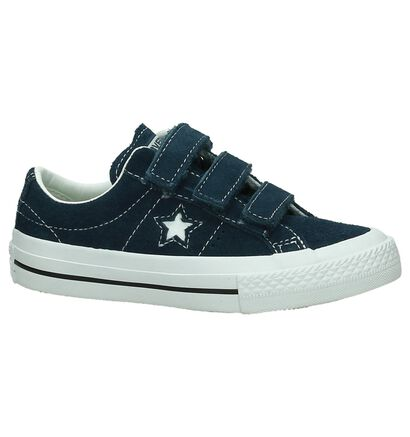 Donker Blauwe Sneakers Converse One Star in nubuck (191260)