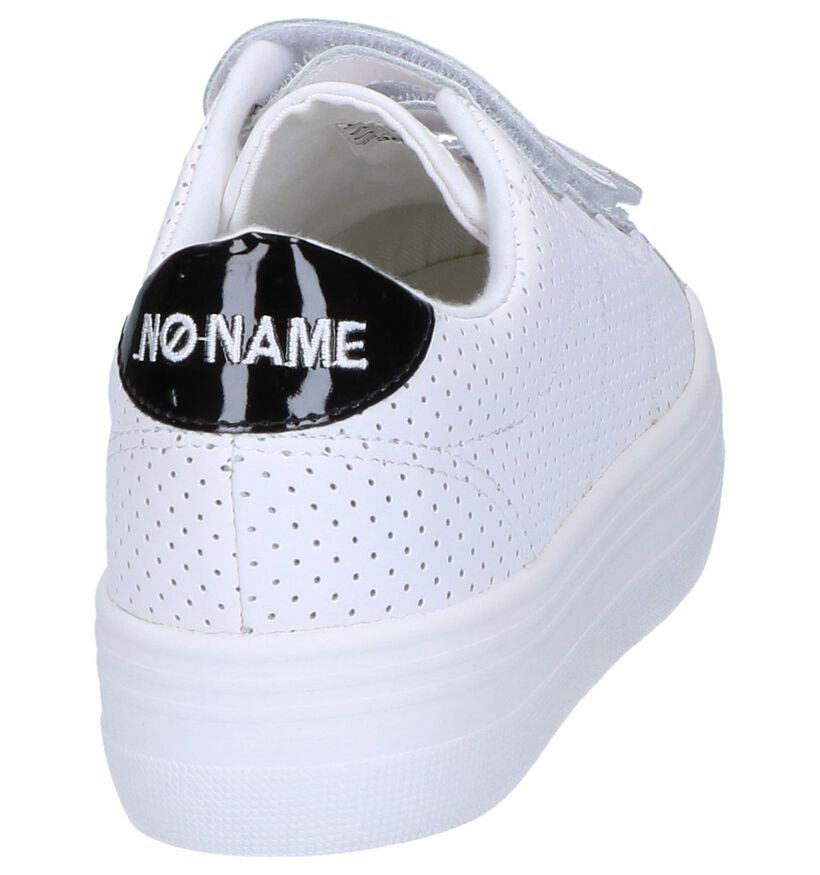 Witte Sneakers No Name Plato Straps in kunstleer (243159)