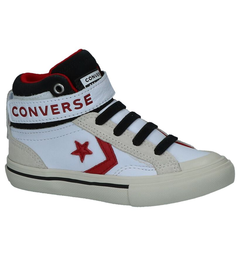 Zwarte Sneakers Converse Pro Blaze Strap Hi in leer (222591)