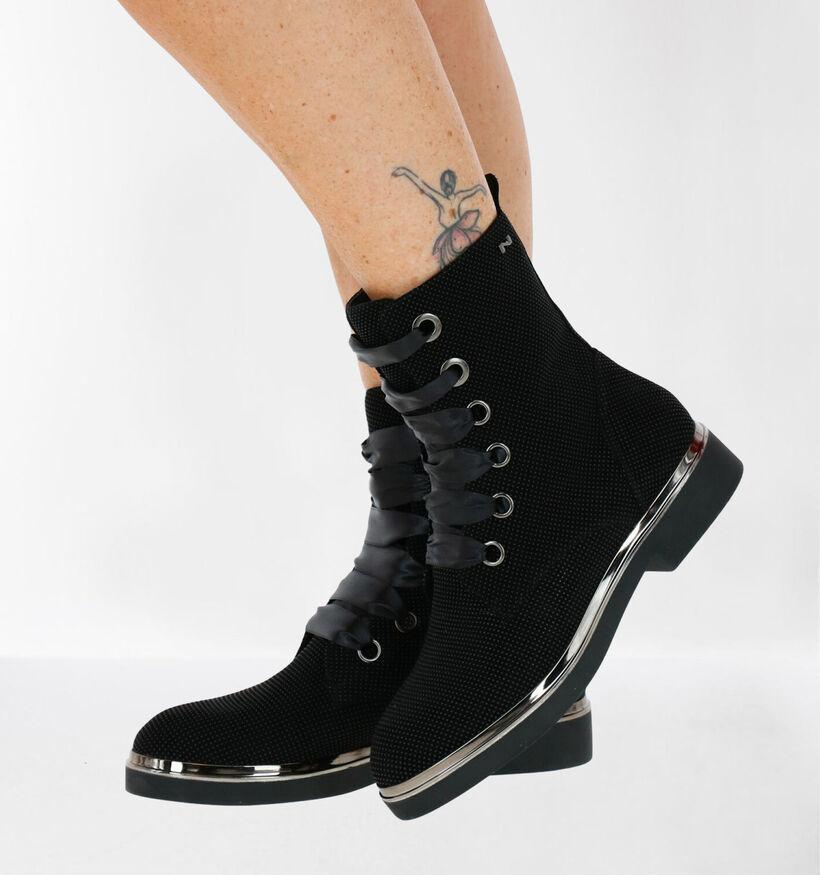 Nathan-Baume Zwarte Boots in daim (283266)
