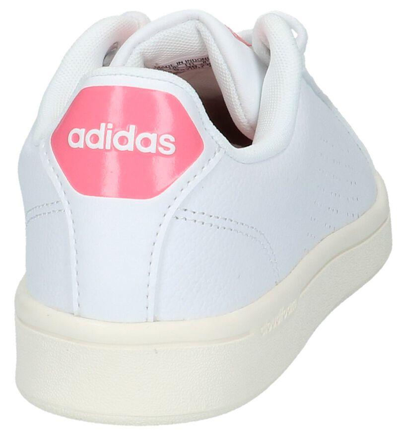 adidas Cloudfoam Adventage Witte Sneakers in kunstleer (218293)