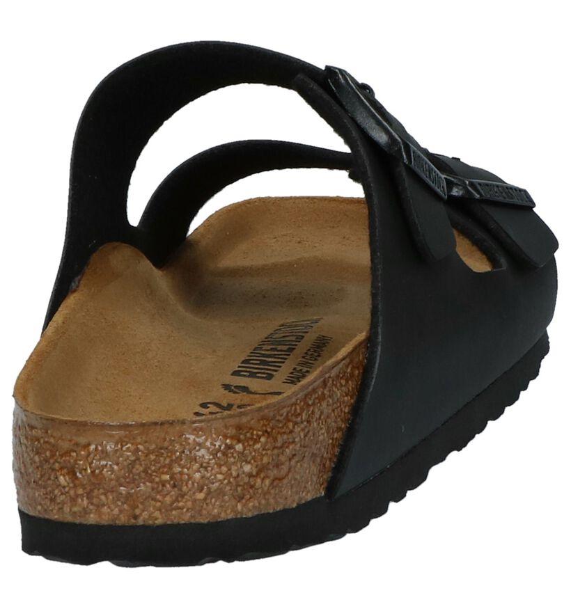 Birkenstock Arizona Donker Bruine Slippers in kunstleer (213366)