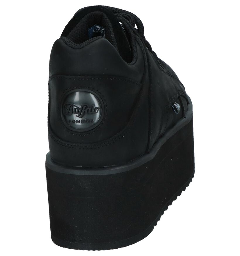 Zwarte Sneakers Buffalo London Rising Towers in leer (240569)