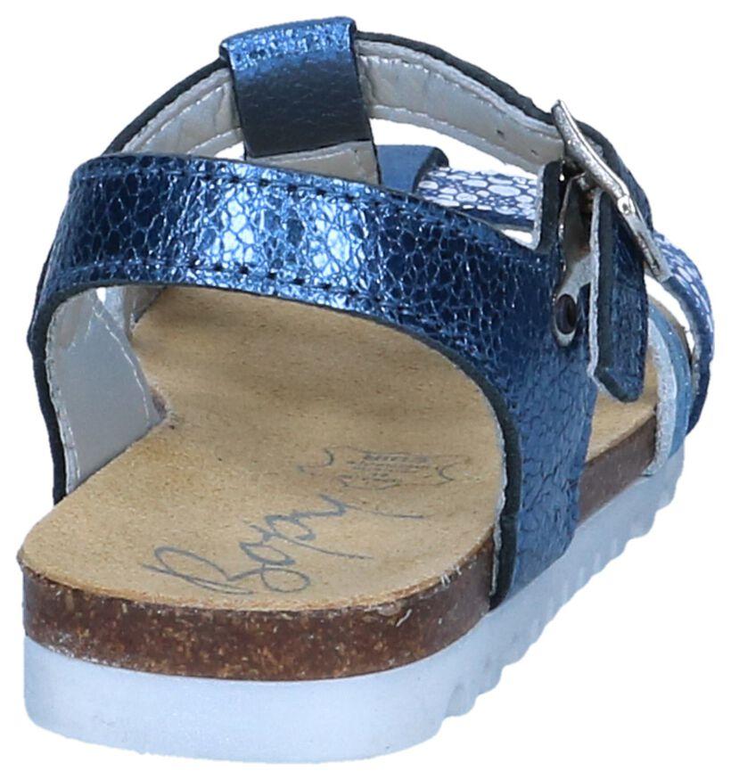 Metallic Blauwe Sandalen Bopy Emicara in leer (242840)