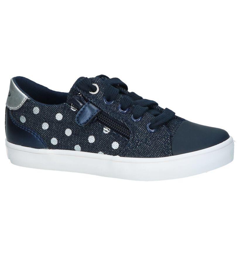 Donkerblauwe Schoenen met Bollenprint Geox in stof (237276)