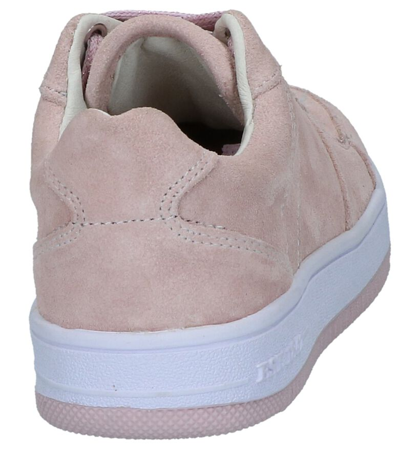 Roze Sneakers Milo & Mila by Torfs in daim (247494)
