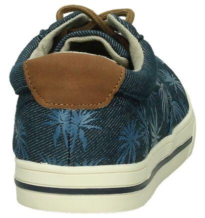 Donker Blauwe Sneaker Ghost Rockers by Torfs met Palmbomen in stof (196669)
