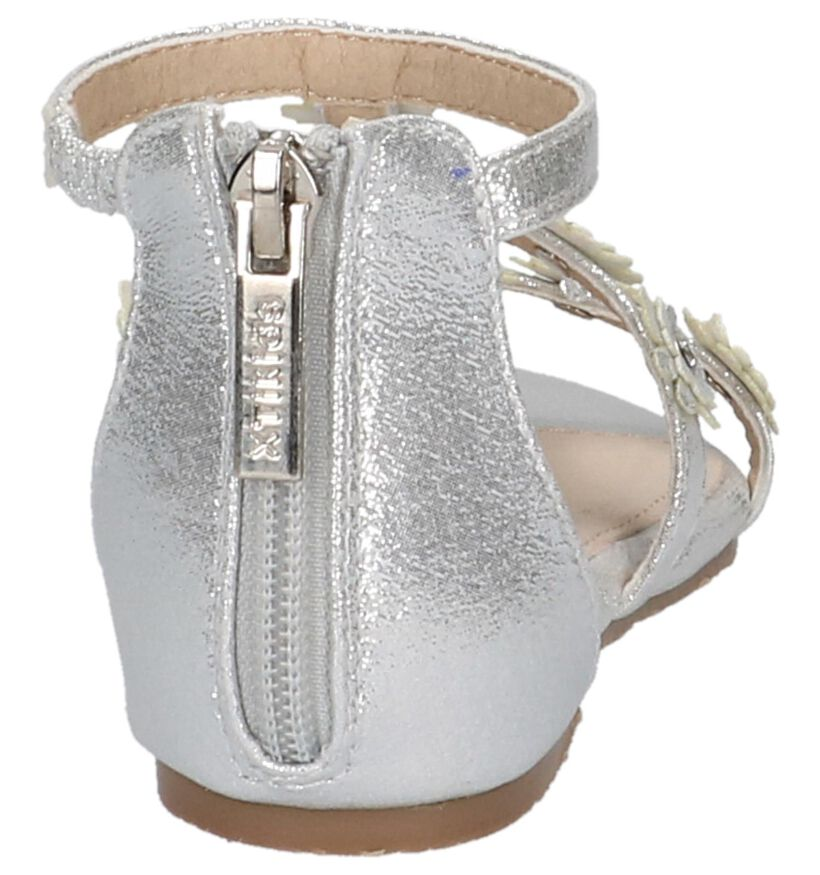 Zilveren Sandalen Milo & Mila by Torfs in stof (209265)