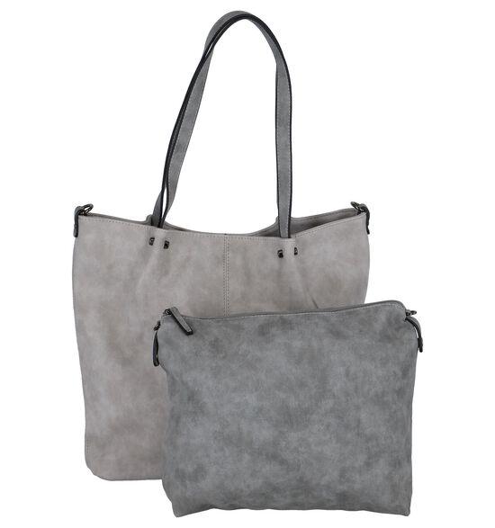 Emily & Noah Lichtgrijze Bag in Bag Shopper