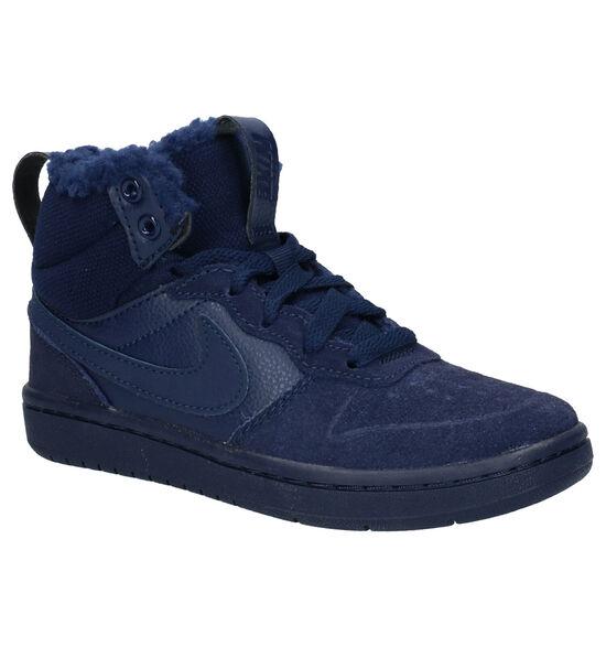 Nike Court Borough Mid Blauwe Sneakers
