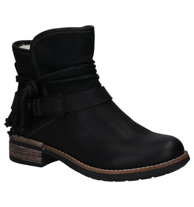 Rieker Zwarte Boots in kunstleer (282733)