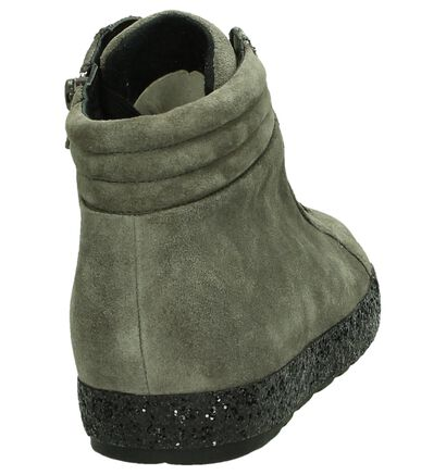 Gabor Grijze Boots met Veter en Glitterzool, Grijs, pdp