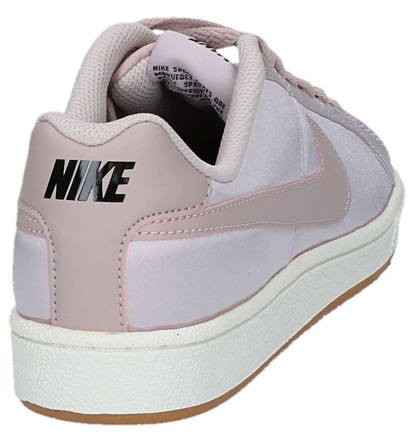Witte Lage Sneakers Nike Court Royale in kunstleer (234076)