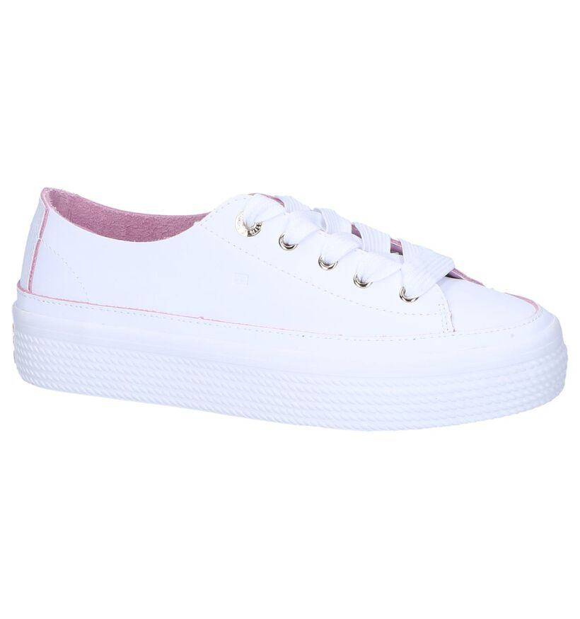 Witte Sneakers Tommy Hilfiger Leather Flatform in leer (241739)