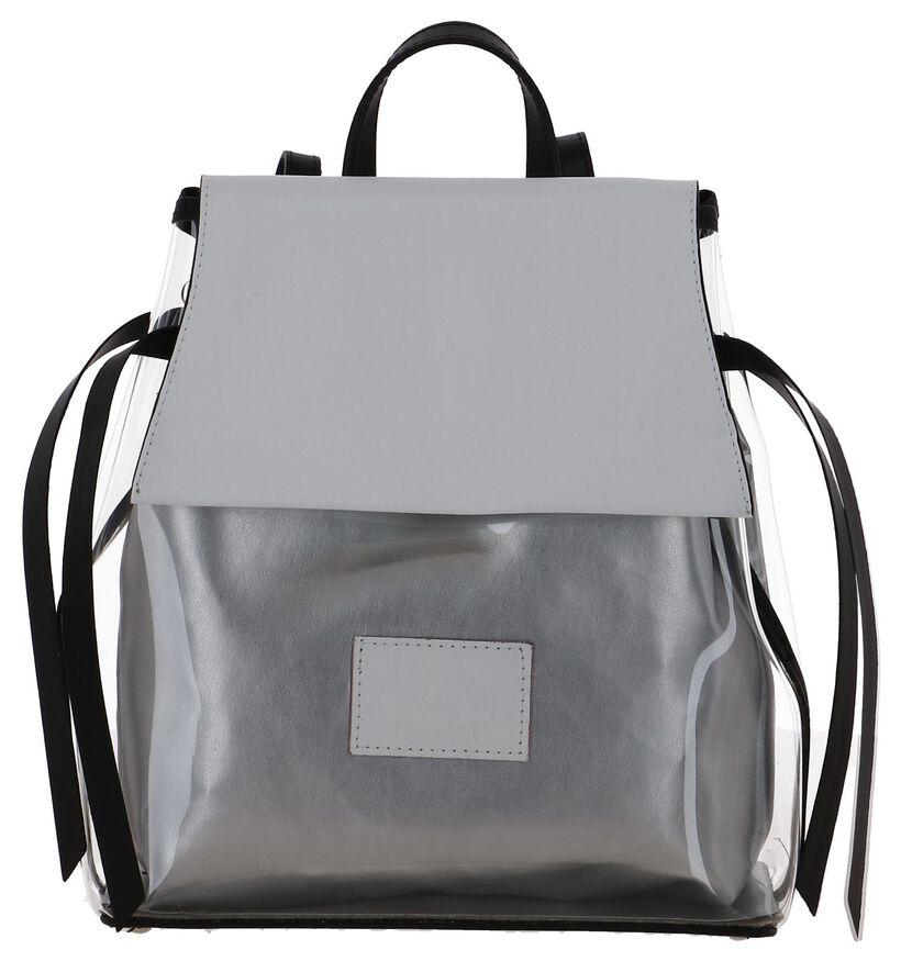 Bronzen Damesrugzak My Best Bag met Zalmroze Klep in kunststof (241452)