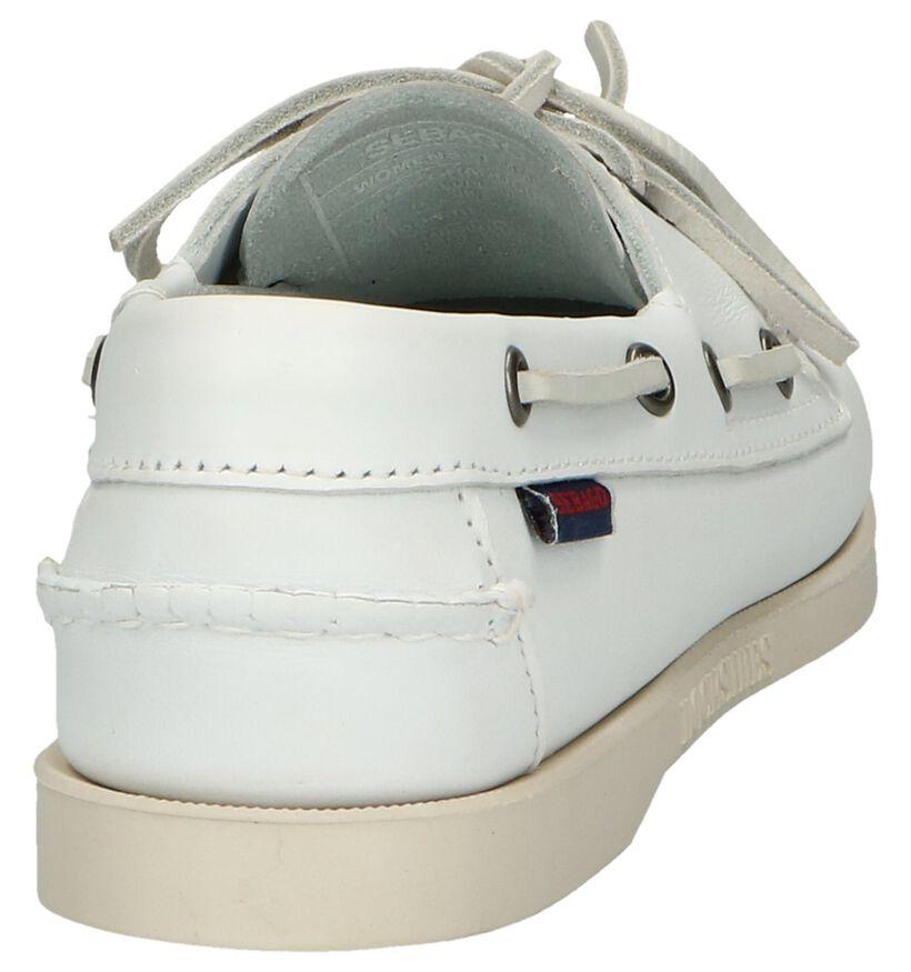Witte Bootschoenen Sebago Dockside in leer (240433)