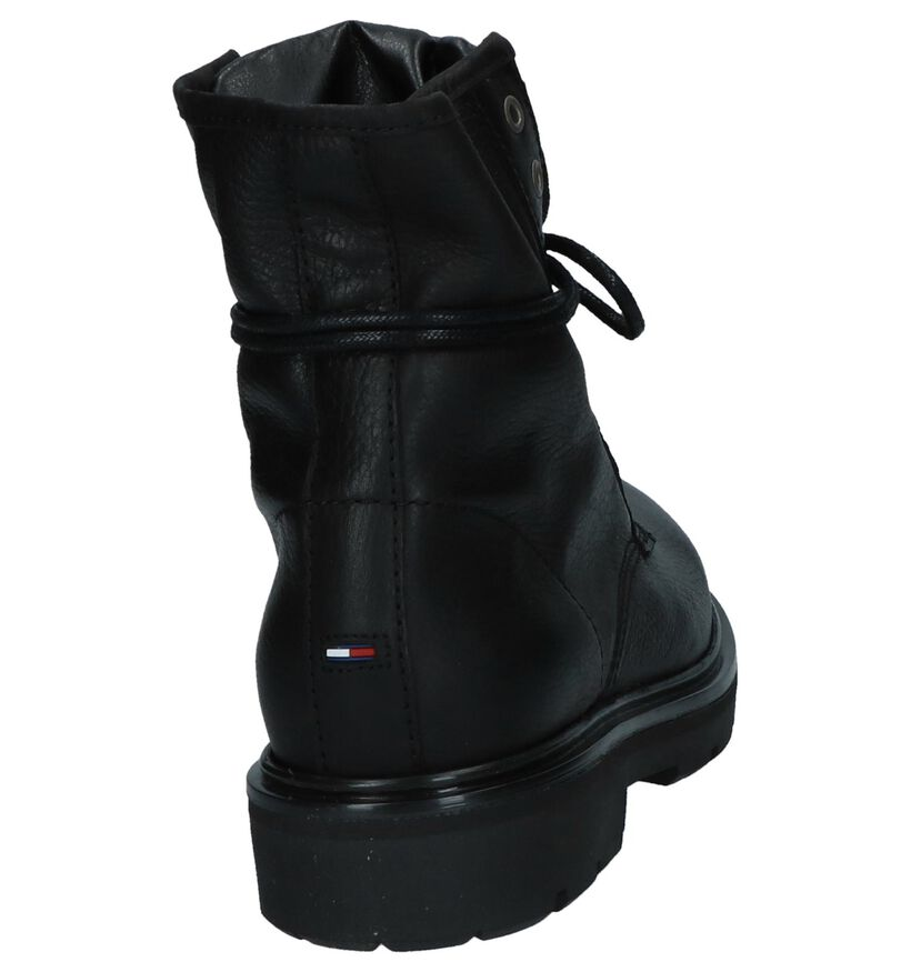Stoere Boots met Pailletten Tommy Hilfiger Zwart in leer (225499)