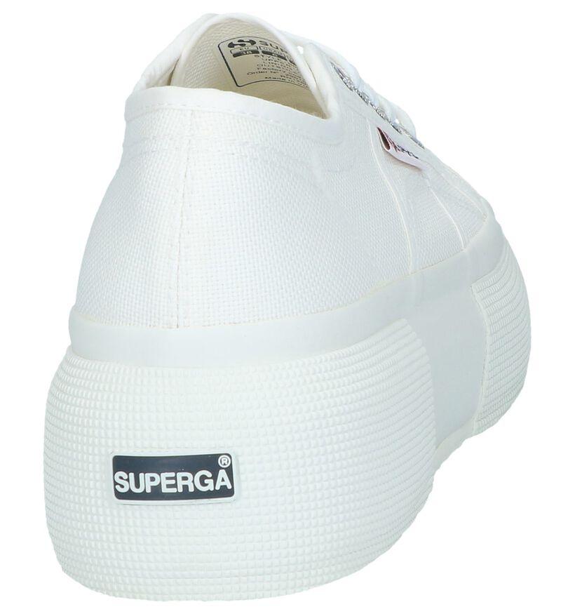 Naturel Lage Sneakers Superga in stof (243131)