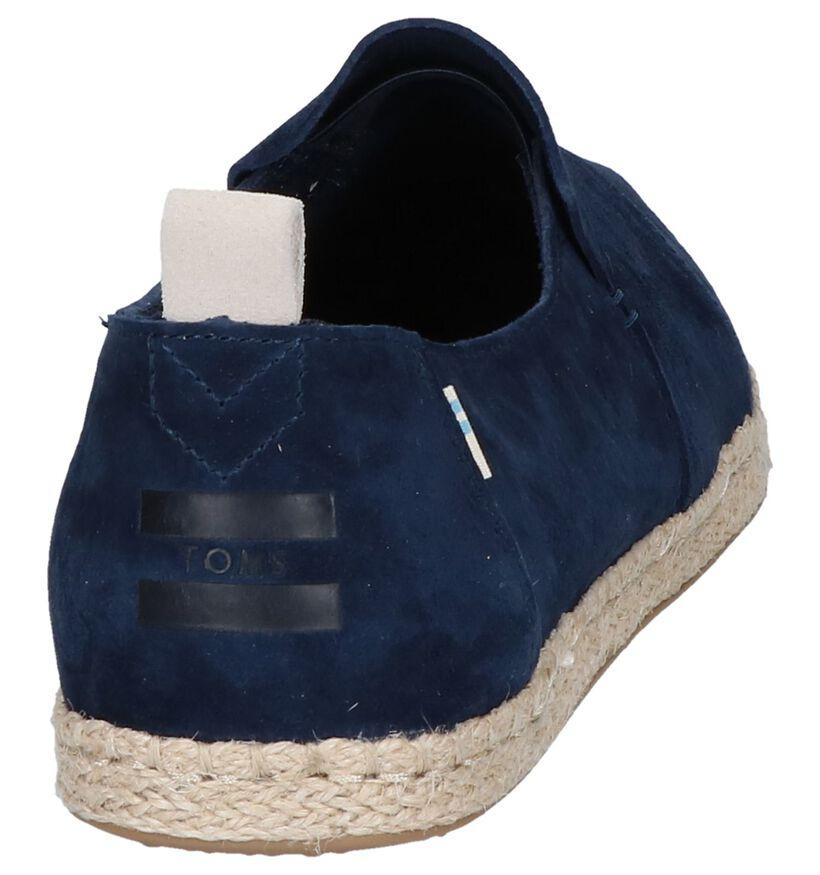 Donkerblauwe Espadrilles Toms in daim (242101)