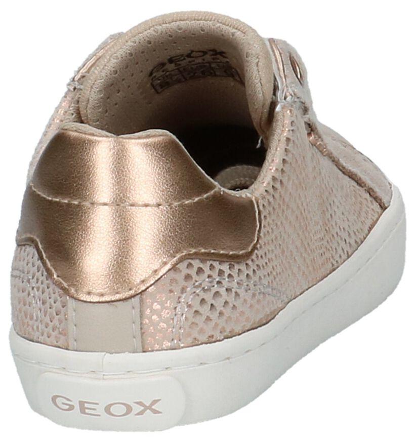 Beige Lage Geklede Sneakers Geox in nubuck (210497)