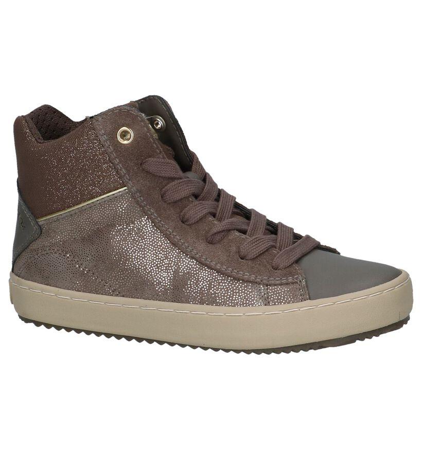 Bronzen Hoge Schoenen met Rits/Veter Geox in kunstleer (223128)