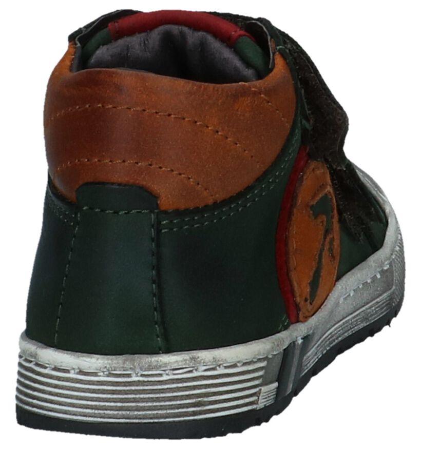 Boots met Klittenband Donkergroen Hampton Bays by Torfs in leer (224119)