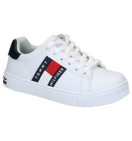 Tommy Hilfiger Witte Lage Sneakers