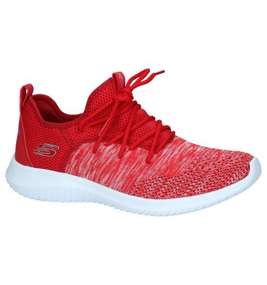 Rode Sneakers Skechers Ultra Flex