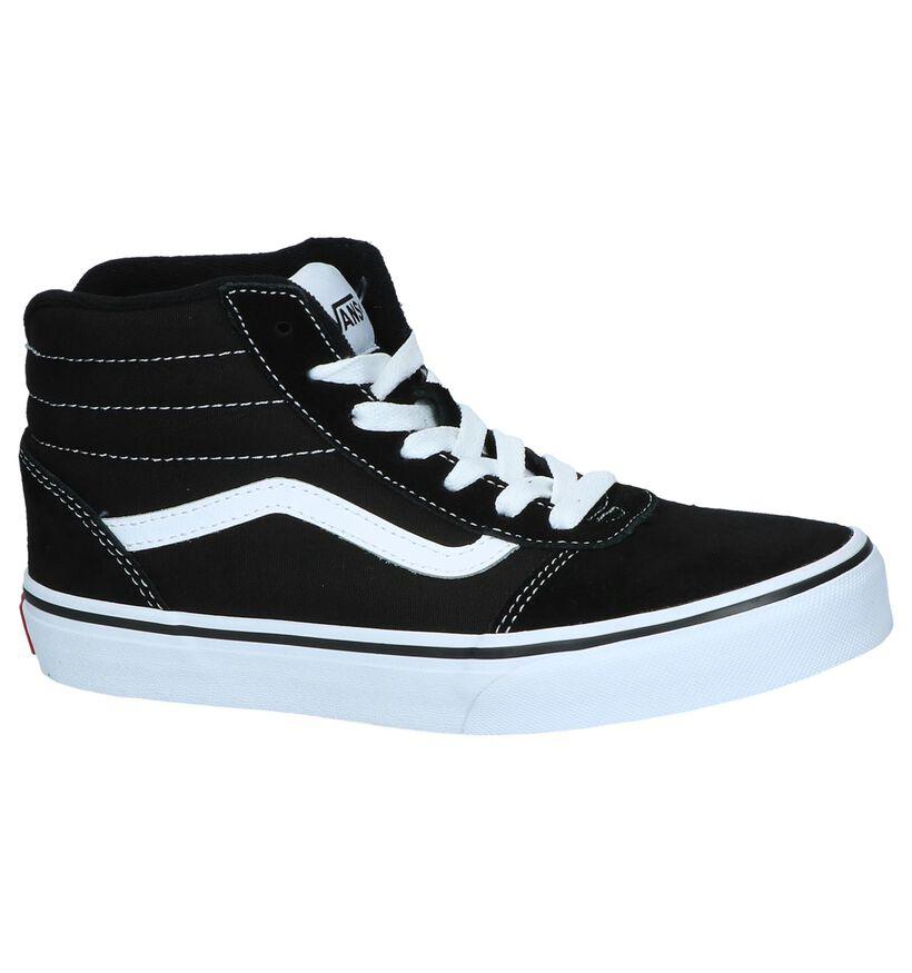 Zwarte Hoge Skateschoenen Vans Ward Youth in daim (239758)