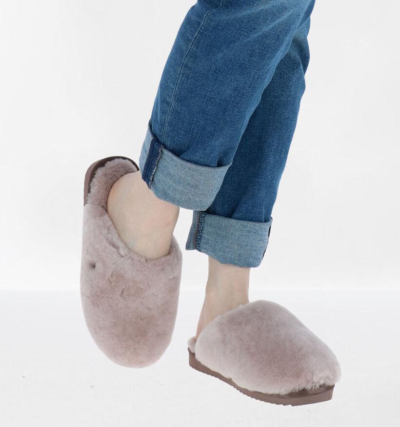 Warmbat Mungo Roze Pantoffels in wol (284121)