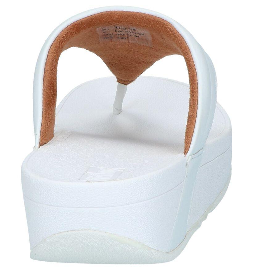 Witte Slippers FitFlop Lottie Padded in kunstleer (240975)