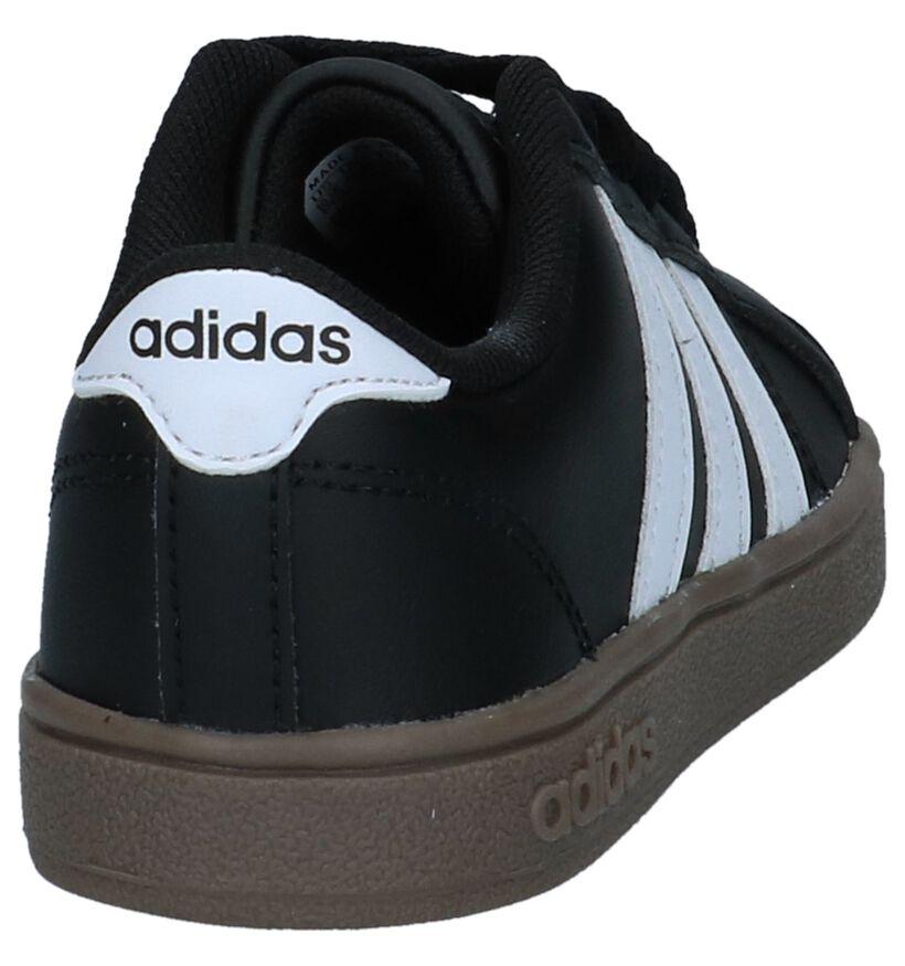adidas Baseline K Zwarte Sneakers in kunstleer (237174)