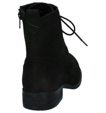Zwarte Hoge Schoenen met Rits/Veter Poelman Gasolina, Zwart, pdp