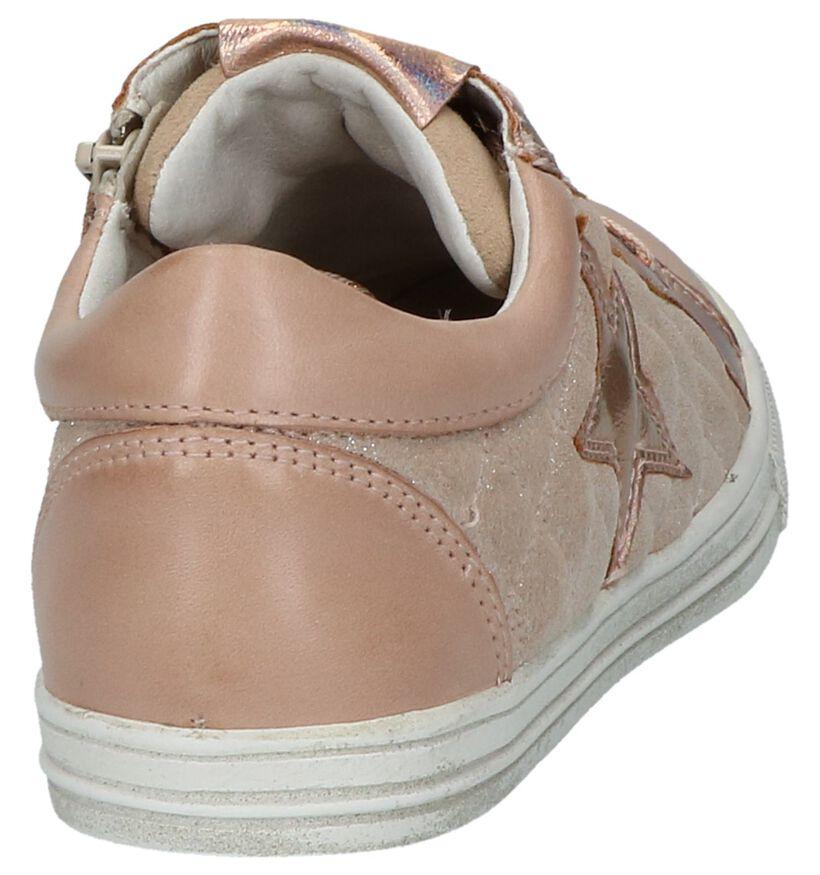 Roze Sneakers Rits&Veter Milo & Mila by Torfs in lakleer (217607)