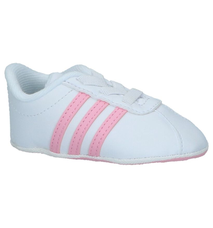 Witte Babysneakers adidas VL Court 2.0 , Wit, pdp