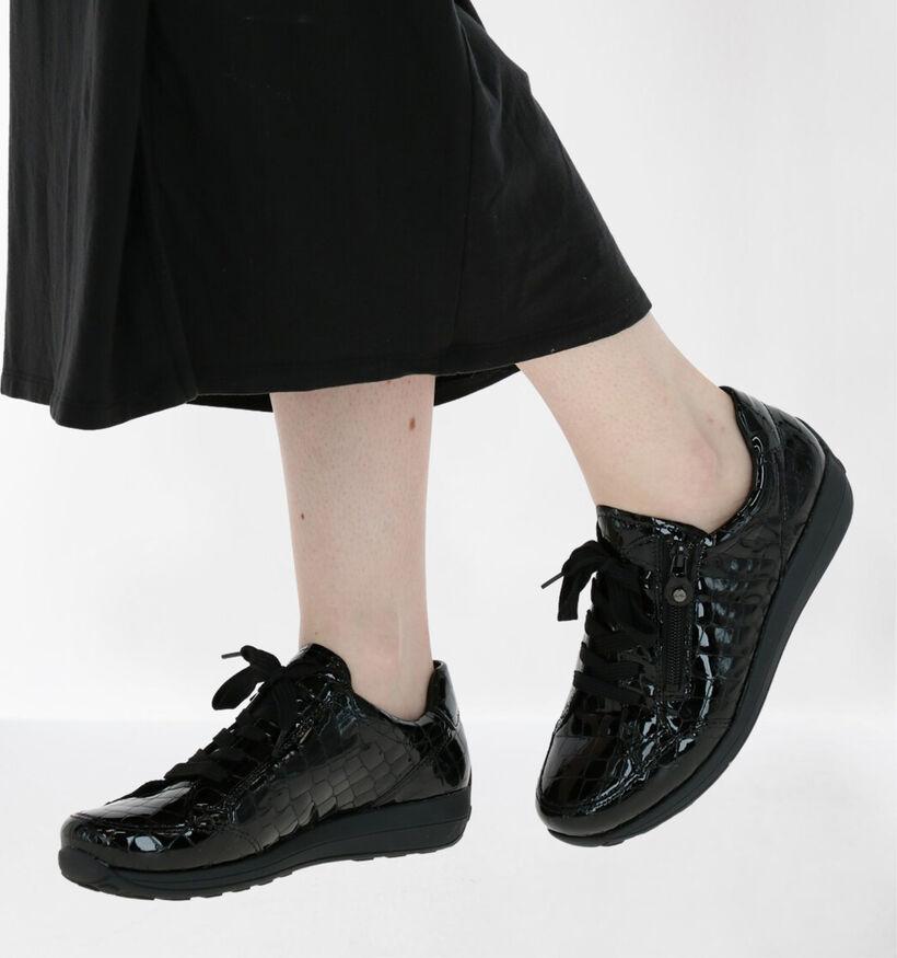 Ara Merano Zwarte Veterschoenen in lakleer (282781)