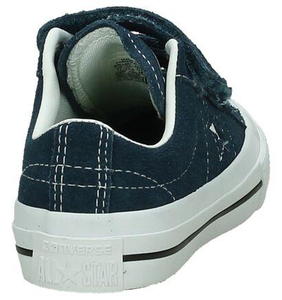 Converse One Star Blauwe Sneakers in nubuck (191260)