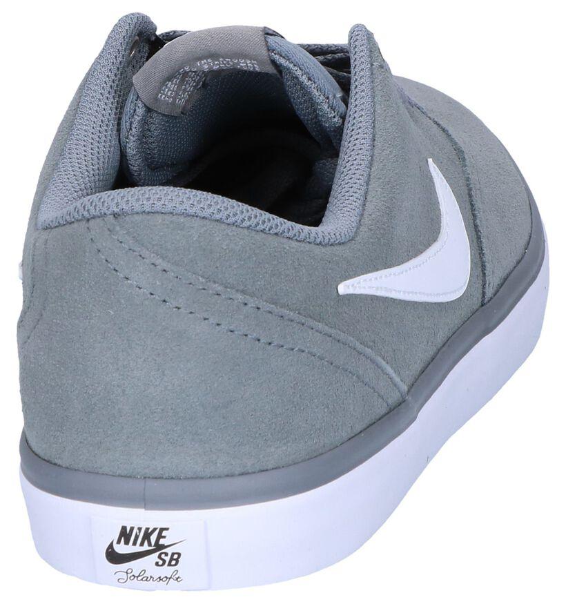 Nike SB Check Solar Zwarte Skatesneakers in daim (262210)