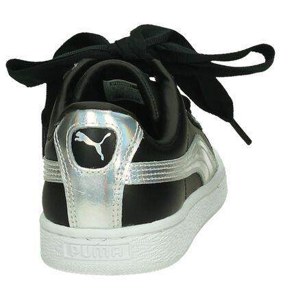 Puma Basket Heart Sneakers Zwart/Zilver, Zwart, pdp